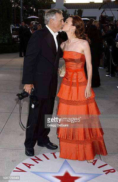 Dennis Hopper and Victoria Duffy during 2005 Vanity Fair Oscar Party Arrivals at Mortons in Los Angeles California United States