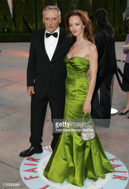 Dennis Hopper and Victoria Duffy during 2006 Vanity Fair Oscar Party Hosted by Graydon Carter Arrivals at Morton's in West Hollywood California...
