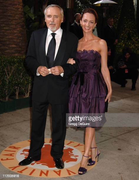 Dennis Hopper and Victoria Duffy during 2007 Vanity Fair Oscar Party Hosted by Graydon Carter Arrivals at Mortons in West Hollywood California United...