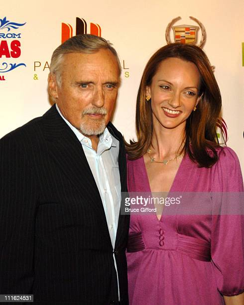 Dennis Hopper and Victoria Duffy during CineVegas Film Festival Honorees Reception at Palms Casino Resort in Las Vegas NV United States