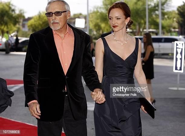 Dennis Hopper and Victoria Duffy during CineVegas Film Festival Opening Night Screening of Ocean's Thirteen Premierecom Arrivals at Palms Casino...