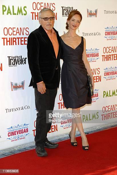 Dennis Hopper and Victoria Duffy during CineVegas Film Festival Opening Night Screening of Ocean's Thirteen Arrivals at Palms Casino Resort in Las...