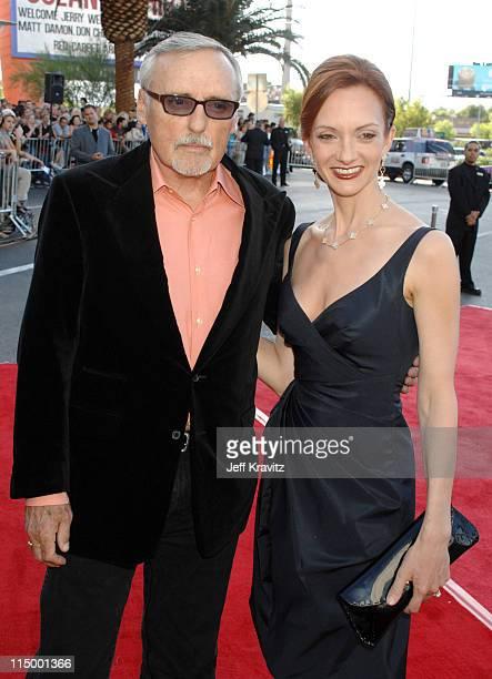 Dennis Hopper and Victoria Duffy during CineVegas Film Festival Opening Night Screening of Ocean's Thirteen Red Carpet at Palms Casino Resort in Las...