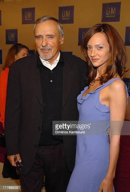 Dennis Hopper and Victoria Duffy during TEN GM Rocks Award Season With Cars Stars and Fashion Red Carpet at Sunset and Vine in Hollywood California...