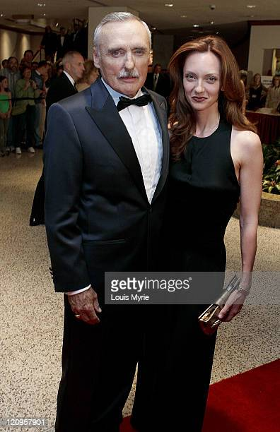 Dennis Hopper and Victoria Duffy during White House Correspondents Dinner Arrivals April 30 2005 at Hilton Hotel in Washington DC United States