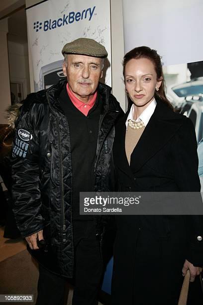 Dennis Hopper and Victoria Hopper at the BlackBerry 8700c Self Magazine Lounge