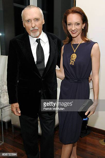 Dennis Hopper and Victoria Hopper attend MANDARIN ORIENTAL HOTEL GROUP Party for the SOTHEBY'S Contemporary Asian Art Exhibition at The Mandarin...