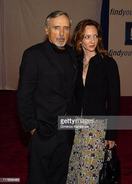 Dennis Hopper and wife Victoria Duffy during 4th Annual ten Fashion Show Presented By General Motors Red Carpet in Los Angeles California United...