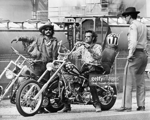 Dennis Hopper as Billy and Peter Fonda as Wyatt in the road movie 'Easy Rider' 1969