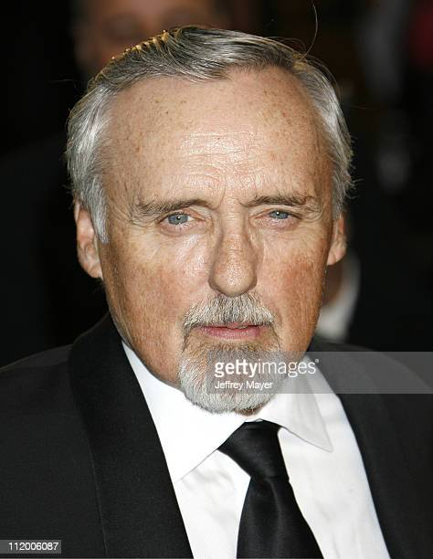 Dennis Hopper during 2007 Vanity Fair Oscar Party Hosted by Graydon Carter Arrivals at Mortons in West Hollywood California United States
