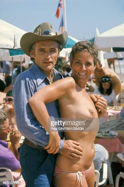 Dennis Hopper et Xaviera Hollander au Festival de Cannes le 17 mai 1976 France