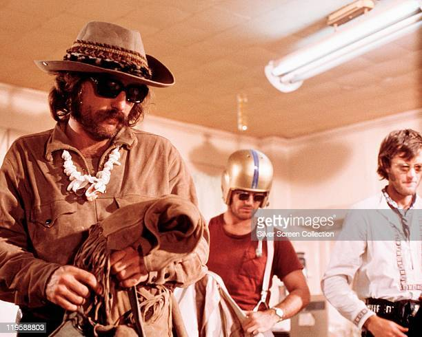 Dennis Hopper Jack Nicholson and Peter Fonda in a publicity still issued for the film 'Easy Rider' USA 1969 The film directed by Dennis Hopper...