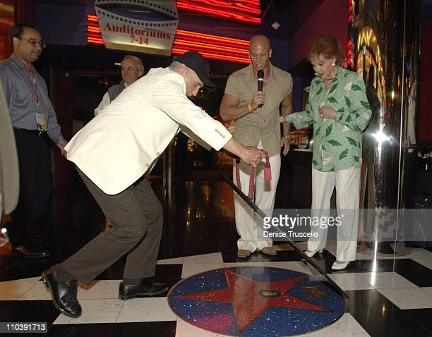 Dennis Hopper Johnny Brenden and Rhonda Fleming during CineVegas Film Festival 2005 Rhonda Fleming Recieves Brenden Celebrity Star at Brenden...