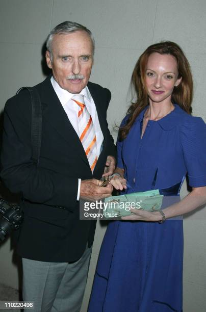 Dennis Hopper of ERing and wife Victoria Duffy during 2005/2006 NBC UpFront Talent After Party at Maritime Hotel in New York City New York United...
