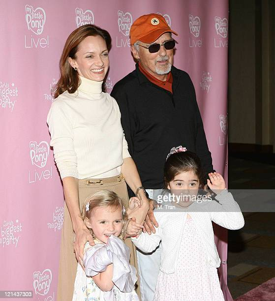Dennis Hopper Victoria Duffy and their daughters during My Little Pony Live Los Angeles Premiere Arrivals at Kodak Theater in Hollywood California...