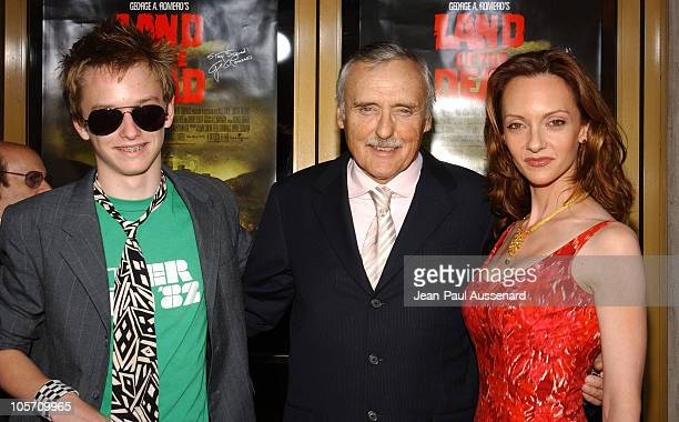 Dennis Hopper wife Victoria Duffy and son Henry during Land of the Dead Los Angeles Premiere Arrivals at National Theatre in Westwood California...