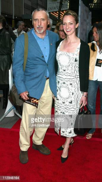 Dennis Hopper wife Victoria Duffy during Unfaithful New York Premiere at Ziegfeld Theatre in New York City New York United States