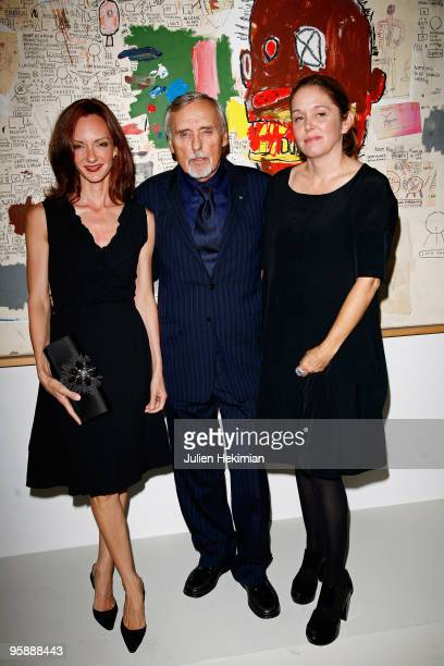 Dennis Hopper with his wife Victoria Hopper and his daughter Marin Hopper attend the Dennis Hopper et le Nouvel Hollywood diner at la Cinematheque...