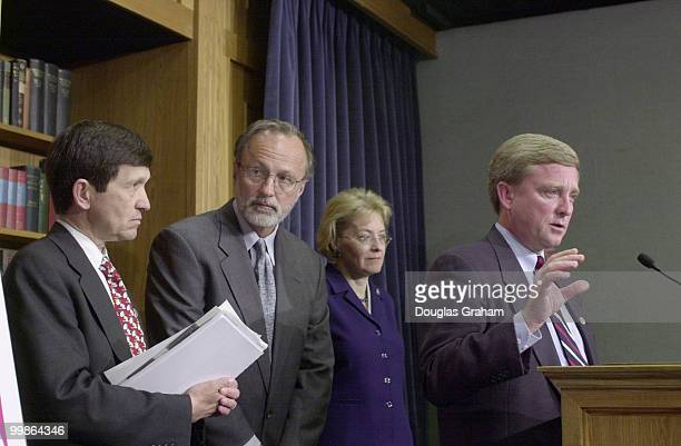 Dennis J Kucinich DOH Minority Whip David E Bonior DMI Marcy Kaptur DOH and Robert Ney ROH and during a press conference to speak out against China...