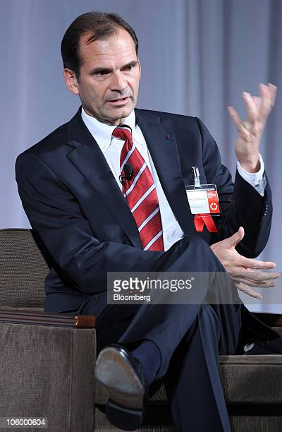 Dennis Jonsson president and chief executive officer of Tetra Pak Group speaks during the 12th Nikkei Global Management Forum in Tokyo Japan on...