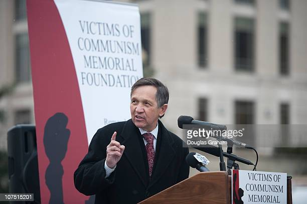 Dennis Kucinich DOH during the The Victims of Communism Memorial Foundation rally and discussion to support jailed Chinese Nobel Peace Prize Laureate...