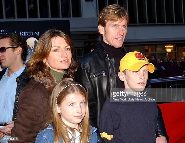 Dennis Leary and his family arrive at the New York premiere of Harry Potter and the Sorcerer's Stone at the Ziegfeld Theater