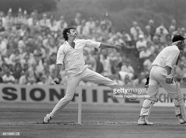 Dennis Lille bowling for Australia on the first day of the 3rd Test match between England and Australia at Headingley in Leeds 14th August 1975 The...