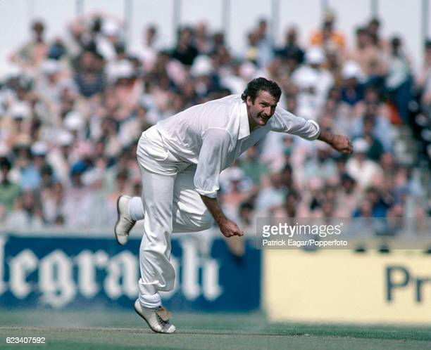 Dennis Lillee bowling for Australia during the 1st Prudential Trophy One Day International between England and Australia at The Oval London 20th...