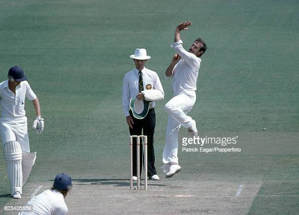 Dennis Lillee bowling for Australia during the 1st Test match between Australia and England at Perth Australia 11th November 1982 The nonstriking...