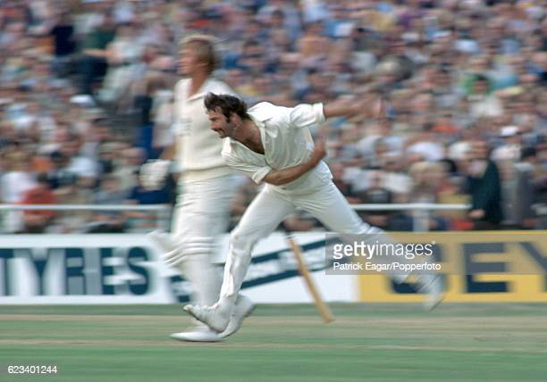 Dennis Lillee bowling for Australia during the 3rd Test match between England and Australia at Headingley Leeds 14th August 1975