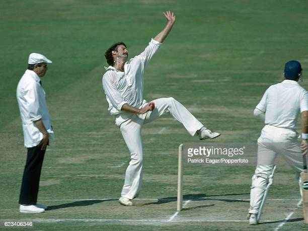 Dennis Lillee bowling for Australia during the Centenary Test match between England and Australia at Lord's Cricket Ground London 1st September 1980...