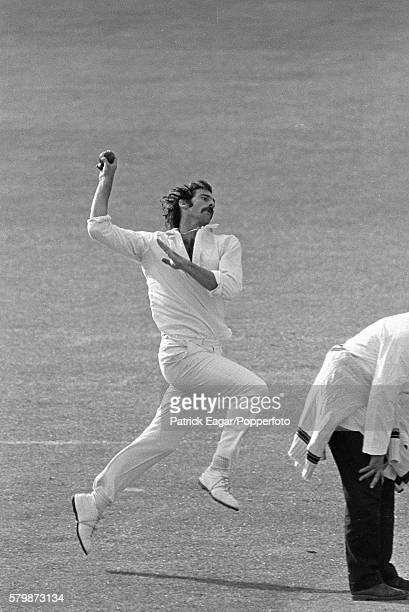 Dennis Lillee bowling for Australia during the Prudential World Cup Warmup match between Middlesex and Australia at Lord's Cricket Ground London 1st...