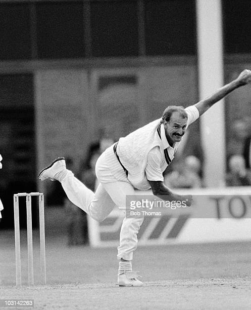 Dennis Lillee bowling for Norhamptonshire against Gloucestershire during their County Championship cricket match held at the County Ground in...