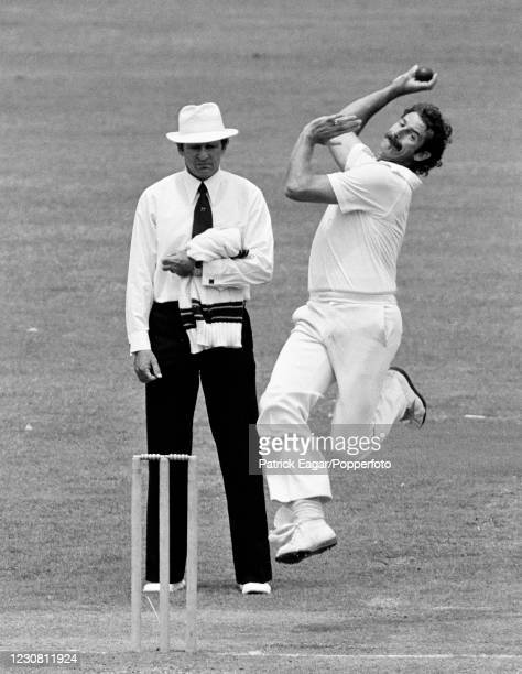 Dennis Lillee of Australia bowling during the 2nd Test match between Australia and England at the SCG, Sydney, Australia, 6th January 1980. The...