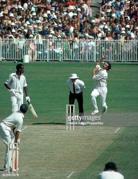 Dennis Lillee of Australia bowling during the 3rd Test match between Australia and West Indies at the MCG Melbourne Australia 26th December 1975