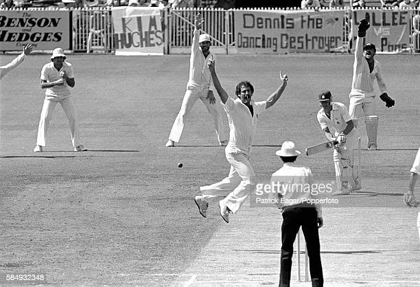 Dennis Lillee of Australia bowls Bob Taylor of England during the 3rd Test match between Australia and England at the MCG Melbourne Australia 2nd...