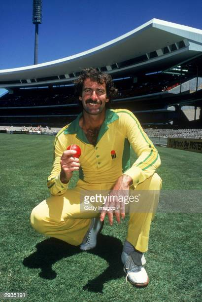 Dennis Lillee of Australia poses for a photo before a One Day International cricket match held at the Sydney Cricket Ground, Sydney, Australia.