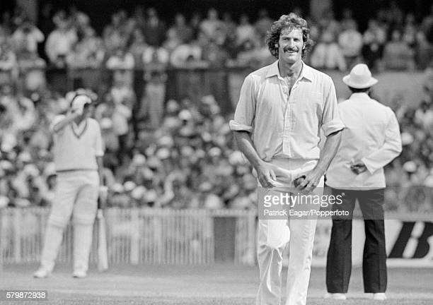 Dennis Lillee of Australia prepares to bowl to Tony Greig of England during the 3rd Test match between Australia and England at the MCG Melbourne...