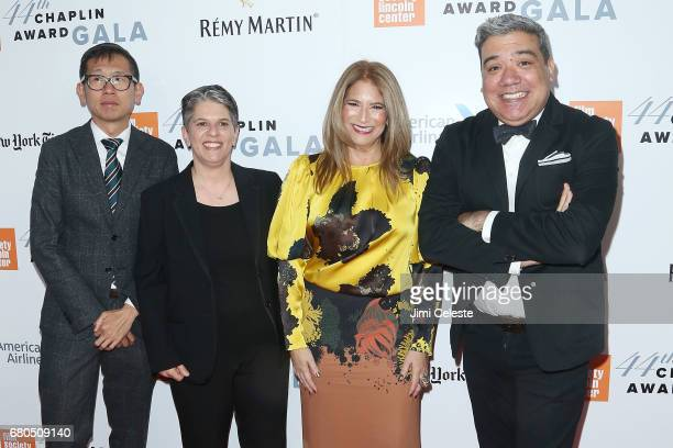 Dennis Lim Lesli Klainberg Ann Tenenbaum and Eugene Hernandez attend the 44th Chaplin Award Gala at David Koch Theatre Lincoln Center on May 8 2017...