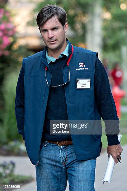 Dennis Lynch head of US growth investments for Morgan Stanley Investment Management Inc arrives for a morning session during the Allen Co Media and...