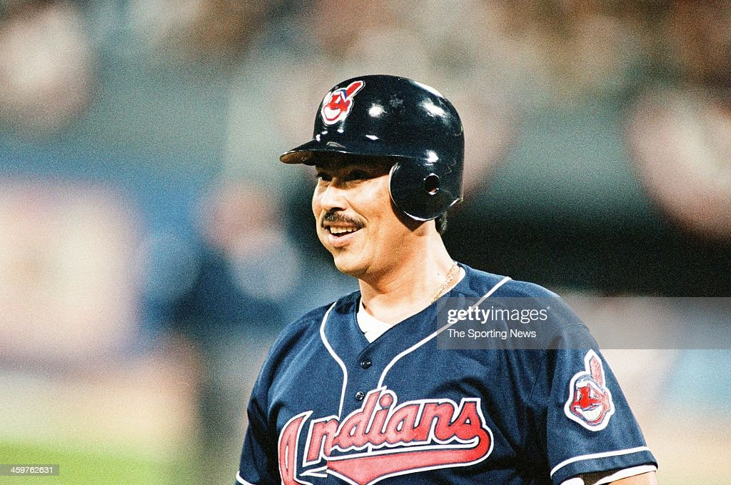 Dennis Martinez of the Cleveland Indians during Game Six of the World Series against the Atlanta Braves on October 28, 1995 at Atlanta-Fulton County Stadium in Atlanta, Georgia.