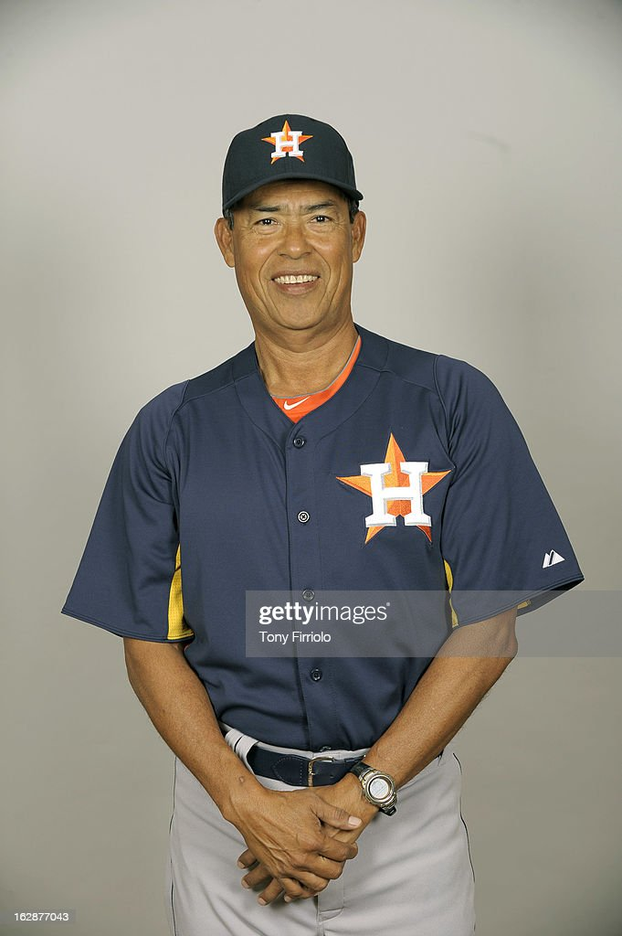 Dennis Martinez #37 of the Houston Astros poses during Photo Day on February 21, 2012 at Osceola County Stadium at Osceola Heritage Park in Kissimmee, Florida.