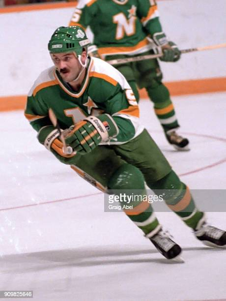 Dennis Maruk of the Minnesota North Stars skates against the Toronto Maple Leafs during game action on October 26 1985 at Maple Leaf Gardens in...