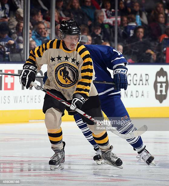 Dennis Maruk skates during the Hockey Hall of Fame Legends Classic Game at the Air Canada Centre on November 16 2014 in Toronto Canada