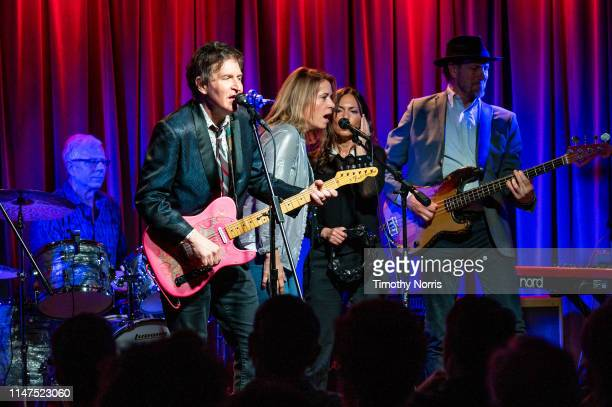 Dennis Mehaffey Steve Wynn Vicki Peterson Susanna Hoffs and Mark Walton perform during The Drop 3x4 at The GRAMMY Museum on May 06 2019 in Los...