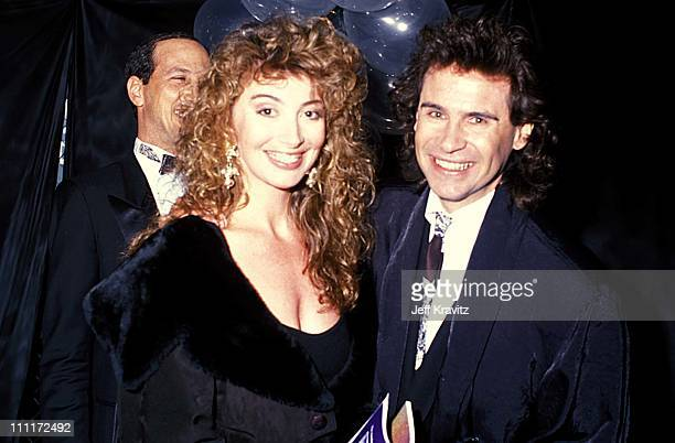 Dennis Miller Ali Epsley during 1989 Cable Ace Awards in Hollywood California United States
