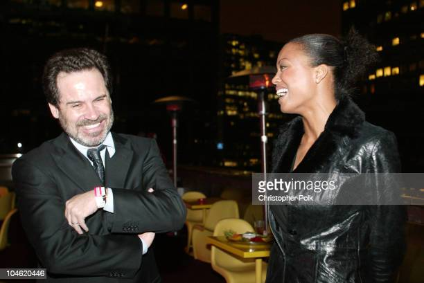 Dennis Miller and Aisha Tyler during 4th Annual Golden Trailer Awards at Orpheum Theatre in Los Angeles CA United States