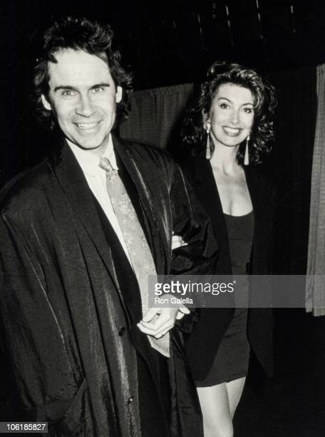 Dennis Miller and Ali Epsley during The Battle of the Ages Boxing Match at Trump Plaza Hotel Casino in Atlantic City New Jersey United States