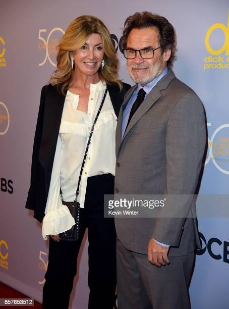Dennis Miller and Carolyn Espley attend CBS' The Carol Burnett Show 50th Anniversary Special at CBS Televison City on October 4 2017 in Los Angeles...