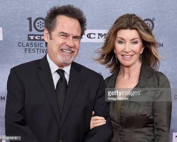 Dennis Miller and Carolyn Espley attend the 2019 TCM Classic Film Festival Opening Night Gala And 30th Anniversary Screening Of When Harry Met Sally...